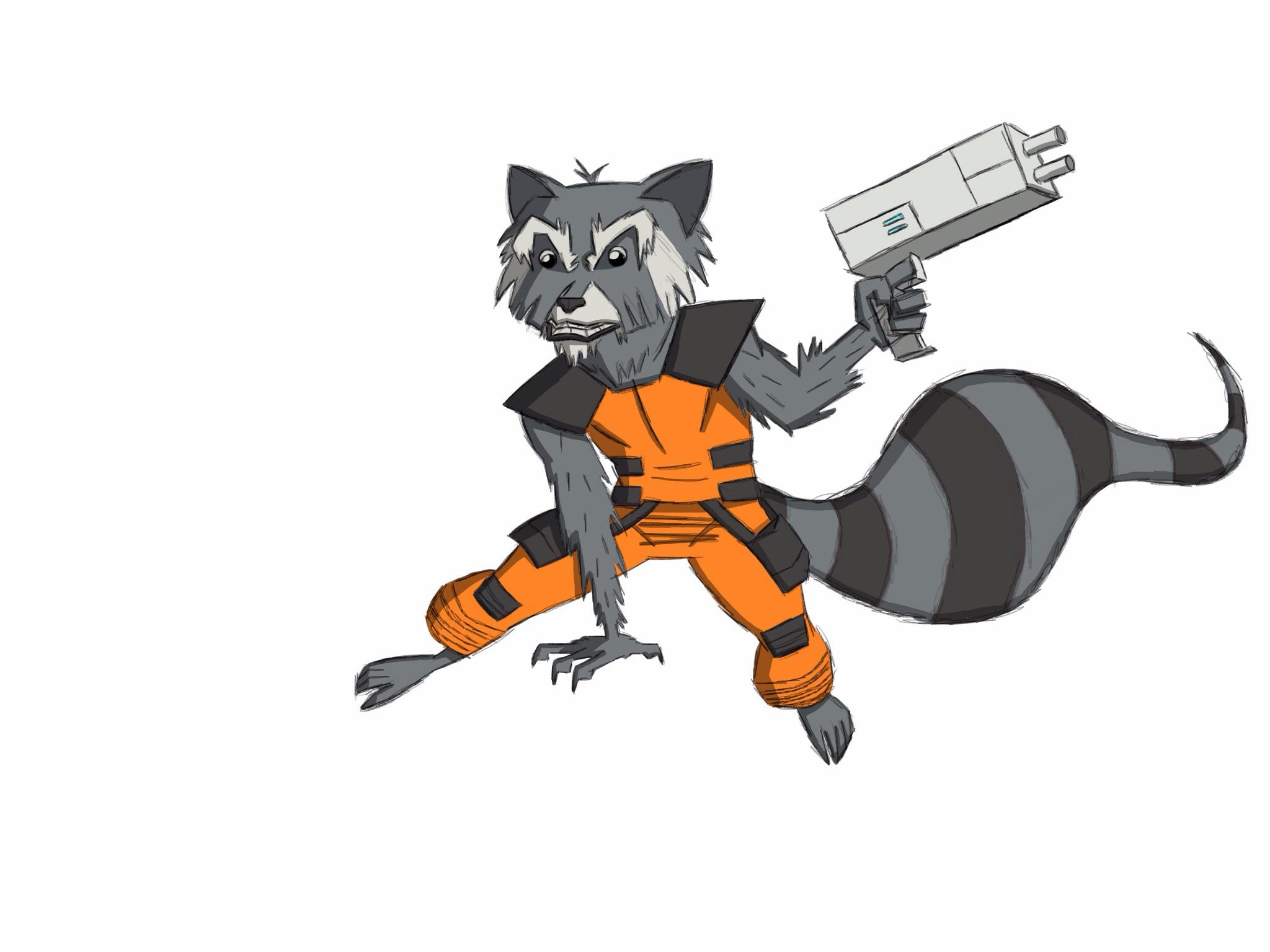 Speed Drawing 2 Rocket Raccoon