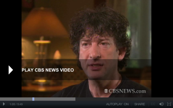 Neil Gaiman CBS News Interview November 2014
